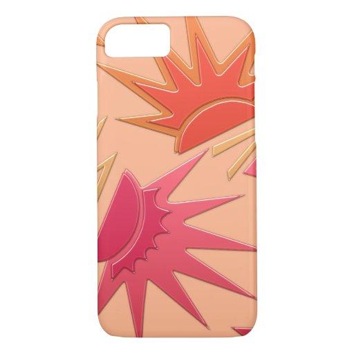 CELEBRITY, ART DECO MODERN: ORANGE and STRAWBERRY iPhone 8/7 Case