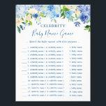 "Celebrity Baby Names Game Blue Hydrangea Floral Flyer<br><div class=""desc"">Blue Hydrangea Floral - Celebrity Baby Names Game - Baby Shower Game Flyer.</div>"