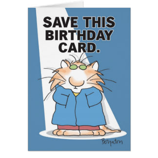 CELEBRITY CAT Birthday Card