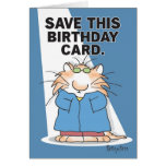 CELEBRITY CAT Birthday Greeting Card