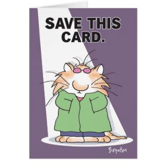 CELEBRITY CAT CARD