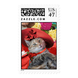CELEBRITY CAT PRINCESS TATUS WITH RED HAT AND DOVE STAMP