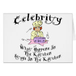 Celebrity Chef Greeting Card