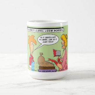Celebrity Clerk: Lizzie Borden Classic White Coffee Mug