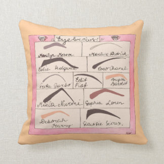 Celebrity Eyebrows ~ Throw Pillow