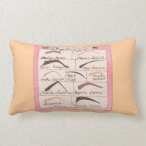 "Celebrity Eyebrows ~ Throw Pillow Lumbar 13"" x 21"""