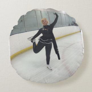 Celebrity Figure Skater Ishah Laurah Round Pillow