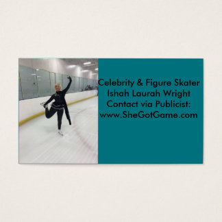 Celebrity & Figure Skater Ishah Laurah Wright Business Card