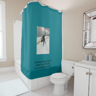 Celebrity Figure Skater Ishah Laurah Wright Shower Curtain