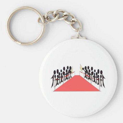 Celebrity Red Carpet Basic Round Button Keychain