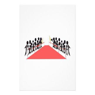 Celebrity Red Carpet Stationery Design