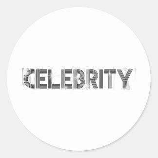 Celebrity Round Stickers