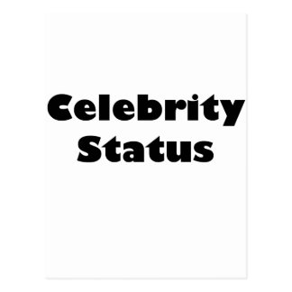 Celebrity Status Postcard