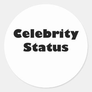 Celebrity Status Classic Round Sticker