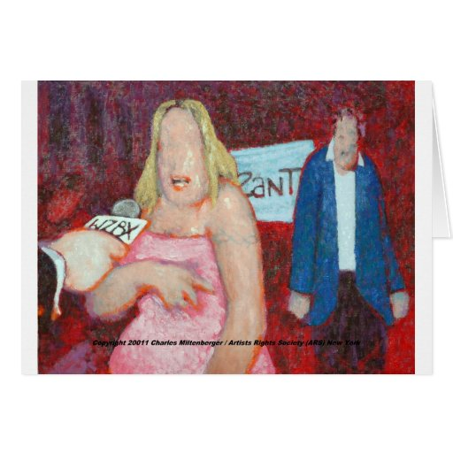Celebrity Zombie Fundraiser Greeting Card