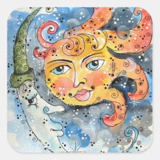 Celectial Sun y pegatina de la luna