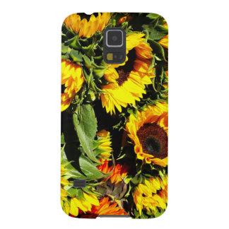 Celemín de caso de Samsung del girasol Carcasas De Galaxy S5