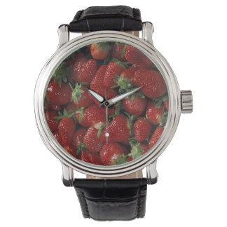 Celemín de fresas relojes de mano