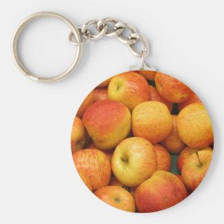 Celemín de manzanas deliciosas llaveros personalizados