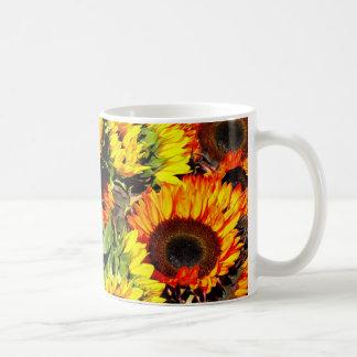 Celemín de taza de los girasoles