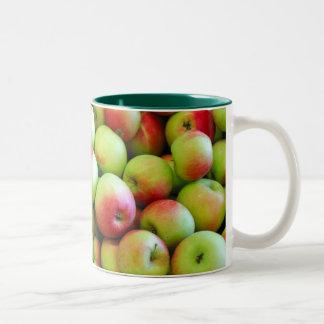 Celemines de manzanas taza de café de dos colores