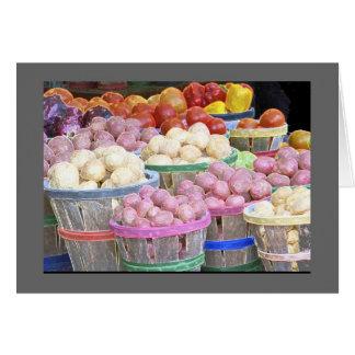 Celemines del mercado de patatas tarjeton