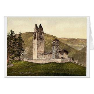 Celerina iglesia romana vieja de St Gian Argovi Tarjetón