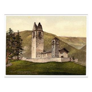 Celerina iglesia romana vieja de St Gian Argovi Postales