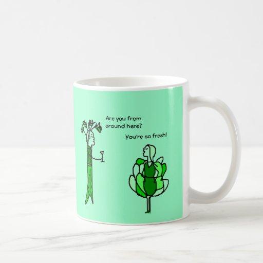 Celery and Lettuce flirt - mug - Customized