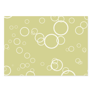 Celery Green Circle Bubbles Business Card