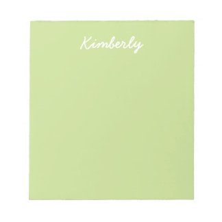Celery Green Solid Color Notepad
