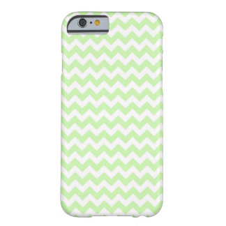 Celery Green, White Chevron ZigZag Pattern Barely There iPhone 6 Case