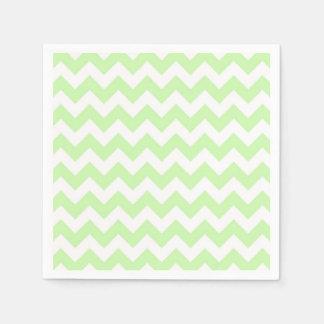 Celery Green, White Chevron ZigZag Pattern Napkin