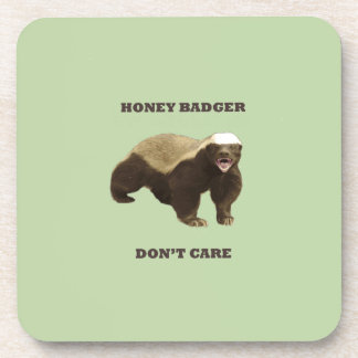 Celery Root Honey Badger Don't Care Pattern Drink Coasters