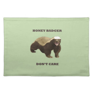 Celery Root Honey Badger Don't Care Pattern Placemats