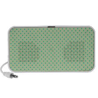Celery Root Mint And Emerald Green Polka Dots Travel Speaker