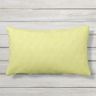 Celery Solid Color Texture Print Lumbar Pillow