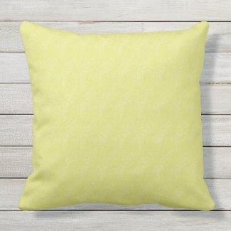 Celery Solid Color Texture Print Pillow 20x20