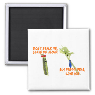 Celery Stalker & Pretty Peas 2 Inch Square Magnet