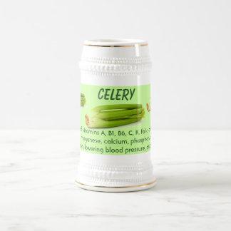 Celery stein 18 oz beer stein