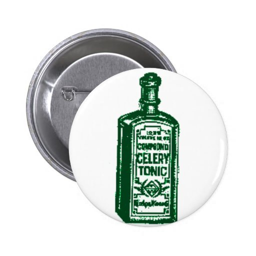 Celery Tonic 2 Inch Round Button