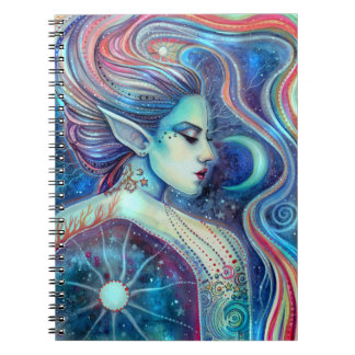 Celesta Fantasy Fairy Art Moons and Stars Notebook