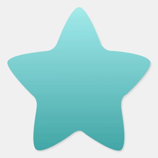 Celeste a la pendiente horizontal del trullo colcomanias forma de estrella personalizadas