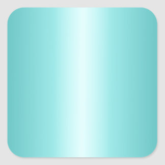 Celeste and Teal Gradient Square Sticker