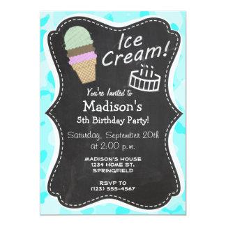 Celeste Camo; Ice Cream Cone 5x7 Paper Invitation Card