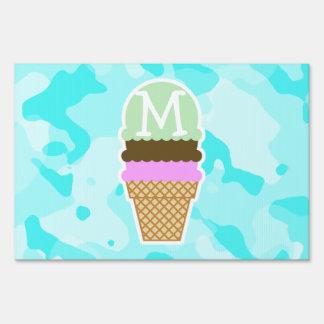 Celeste Camo; Ice Cream Cone Signs