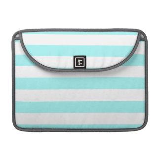 Celeste Horizontal Stripes; Striped MacBook Pro Sleeve