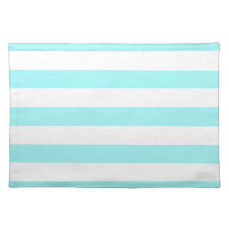 Celeste Horizontal Stripes Striped Placemats