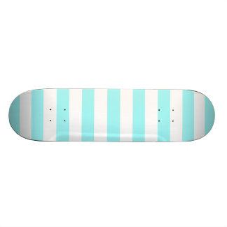 Celeste Horizontal Stripes; Striped Skateboard Deck