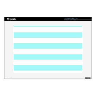 "Celeste Horizontal Stripes; Striped Skin For 15"" Laptop"